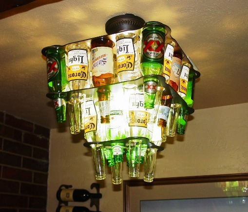 Consider, that Beer bottle chandelier very
