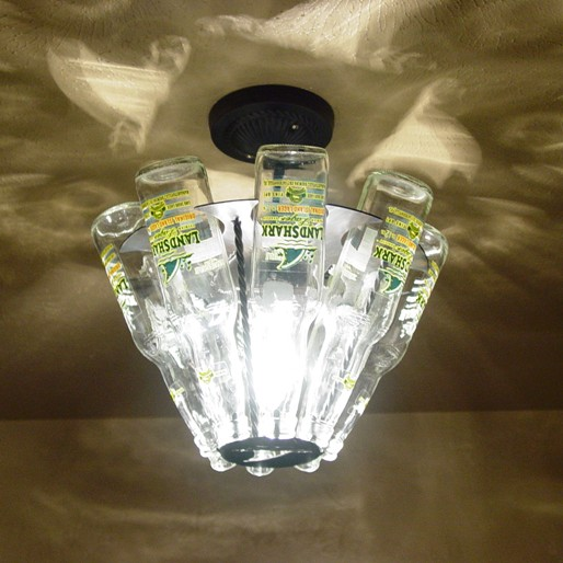 Beer bottle light fixture same light fixture viewed from under it mozeypictures Images